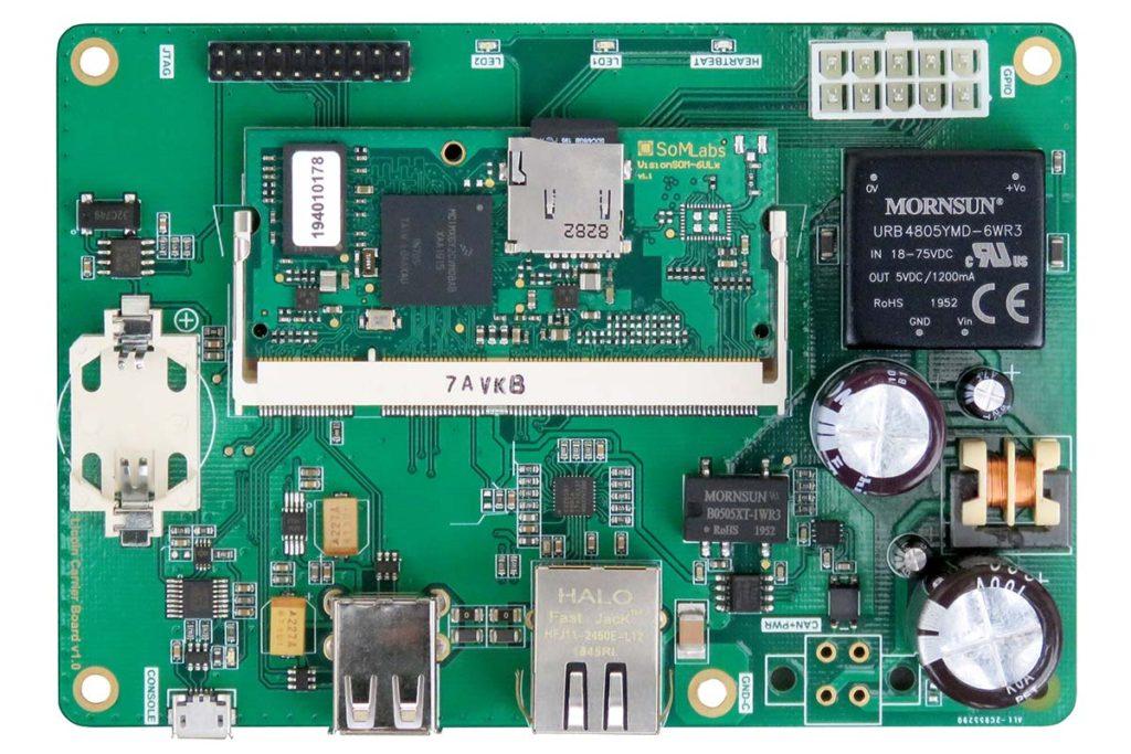 Industrial data integrator-server, based on VisionSOM-6ULL module